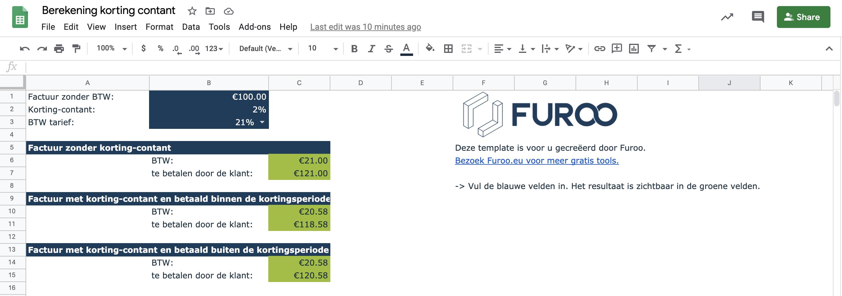 Korting contant tool Furoo